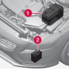 Main battery and supplementary start/stop battery