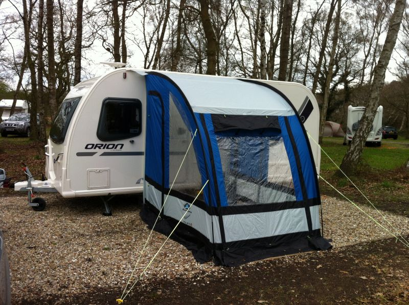 Orion 440 4 With Sunncamp 180 Porch Awning Front