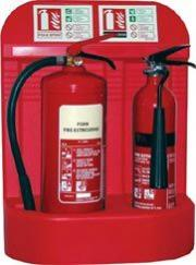 Fire Extinguishers On Stand