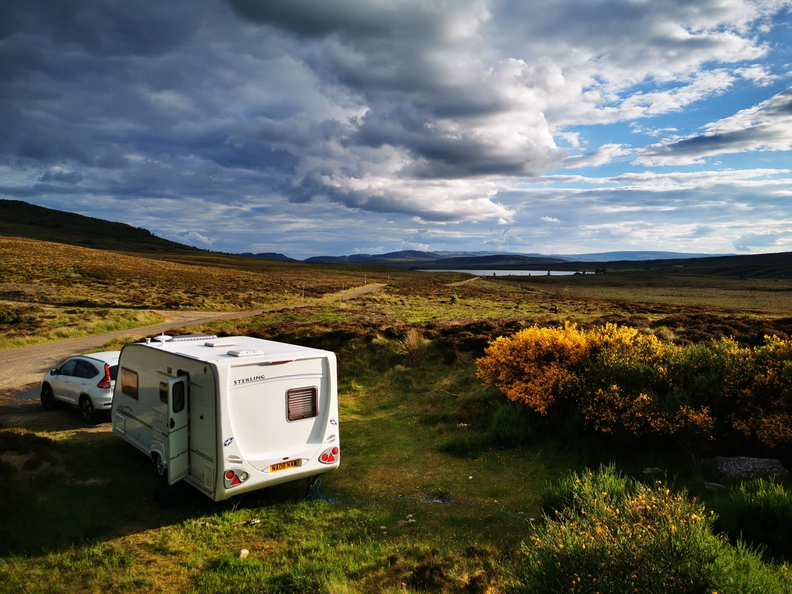 Wild camping at Lochindorb