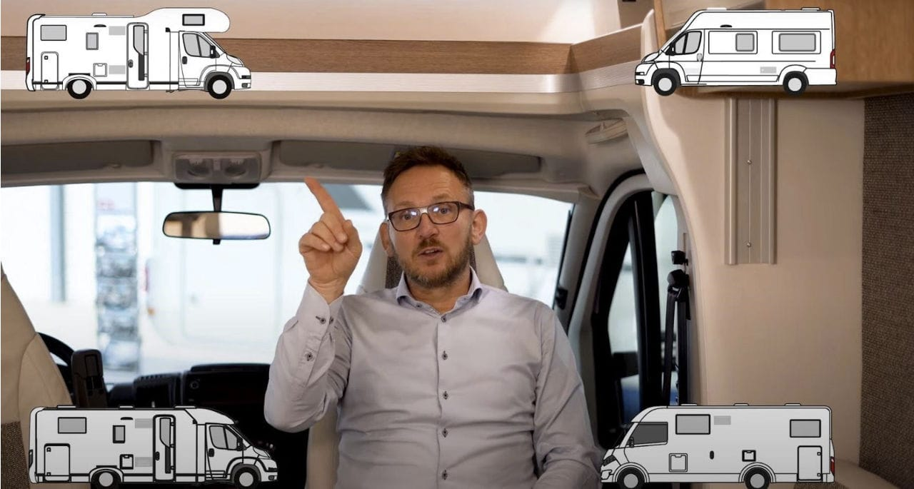 Try out different sizes of motorhome